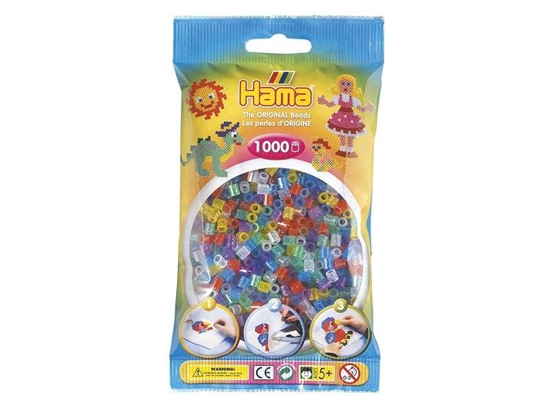 Sachet de 1000 perles HAMA MIDI classiques - translucide paillettes 54 Hama - 1