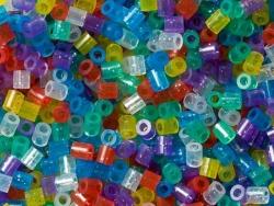 Tüte mit 1.000 klassichen HAMA-Midi-Perlen - durchscheinend und mit Glitzer