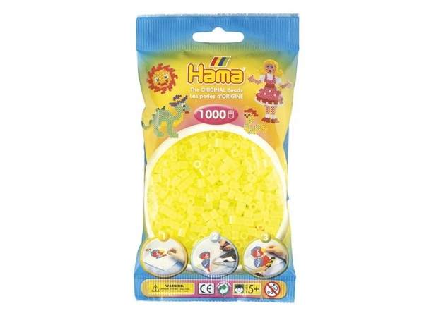 Acheter Sachet de 1000 perles HAMA MIDI - jaune fluo translucide 34 - 3,15€ en ligne sur La Petite Epicerie - 100% Loisirs c...