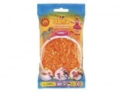 Sachet de 1000 perles HAMA MIDI - orange fluo translucide