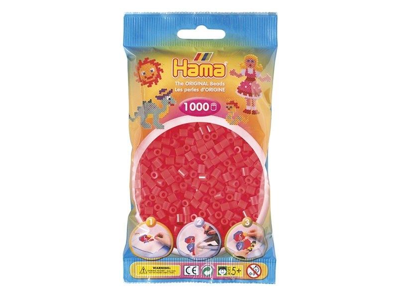 Sachet de 1000 perles HAMA MIDI - rouge fluo translucide 35 Hama - 1
