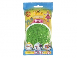 Bag of 1,000 HAMA MIDI beads - translucent neon green Hama - 1