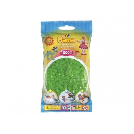 Sachet de 1000 perles HAMA MIDI - vert fluo translucide 37 Hama - 1