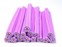 Daisy cane - pale lilac