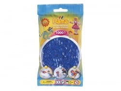 Bag of 1,000 HAMA MIDI beads - translucent navy blue Hama - 1