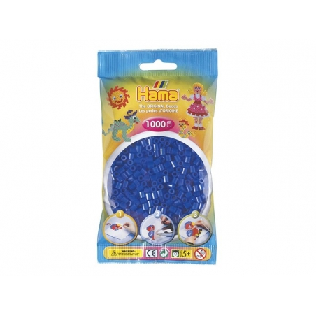 Sachet de 1000 perles HAMA MIDI - bleu marine translucide 36 Hama - 1