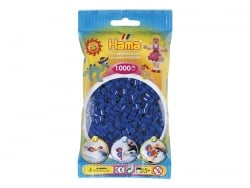 Bag of 1,000 HAMA MIDI beads - blue navy Hama - 1