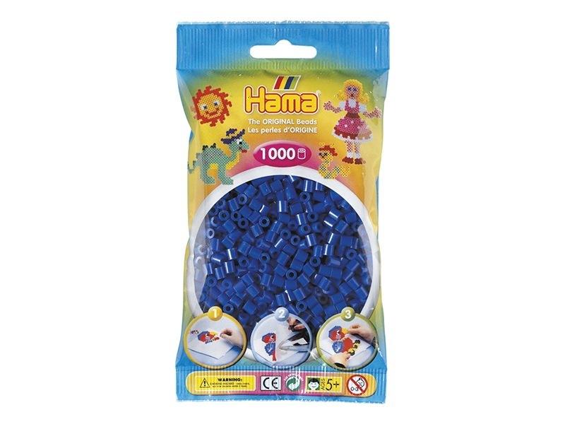 Sachet de 1000 perles HAMA MIDI - bleu marine 08 Hama - 1