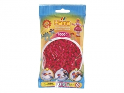 Sachet de 1000 perles HAMA MIDI - rouge framboise