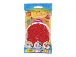 Bag of 1,000 HAMA MIDI beads - red Hama - 1