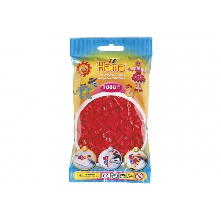 Acheter Sachet de 1000 perles HAMA MIDI - rouge 05 - 3,15€ en ligne sur La Petite Epicerie - Loisirs créatifs
