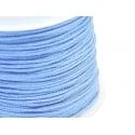 1 m de fil de jade / fil nylon tressé 1 mm - bleu ciel
