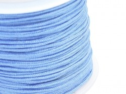 1 m of braided nylon cord, 1 mm - azure