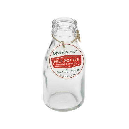 Mini Bouteille de lait en verre - rétro Dotcomgiftshop - 1