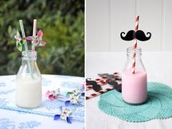 Mini Bouteille de lait en verre - rétro Dotcomgiftshop - 3