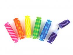 6 surligneurs en forme de bonbons parfumés