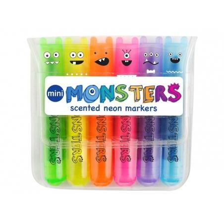 Acheter 6 mini surligneurs monsters parfums sucrés - 5,99€ en ligne sur La Petite Epicerie - Loisirs créatifs