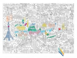 Giant colouring paper poster - Paris