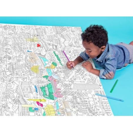 Acheter Poster géant en papier à colorier - PARIS - 9,90€ en ligne sur La Petite Epicerie - 100% Loisirs créatifs