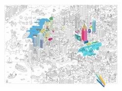 Poster géant en papier à colorier - NEW YORK OMY  - 1