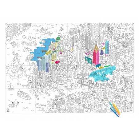 Acheter Poster géant en papier à colorier - NEW YORK - 11,90€ en ligne sur La Petite Epicerie - Loisirs créatifs