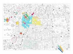 Poster géant en papier à colorier - PLAY