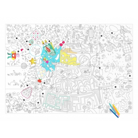 Giant colouring paper poster - Play