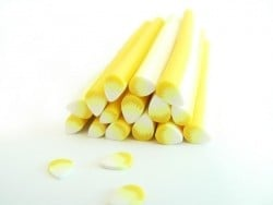 Petal cane - white and yellow