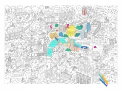 Riesiges Ausmalposter - London