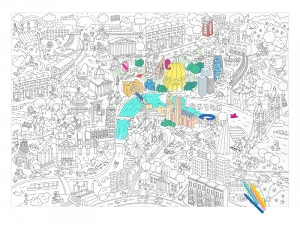 Giant colouring paper poster - London