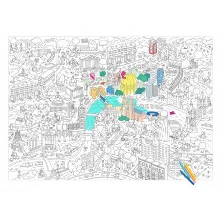 Acheter Poster géant en papier à colorier - LONDON - 9,90€ en ligne sur La Petite Epicerie - Loisirs créatifs