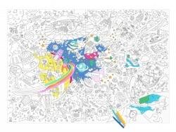Poster géant en papier à colorier - COSMOS