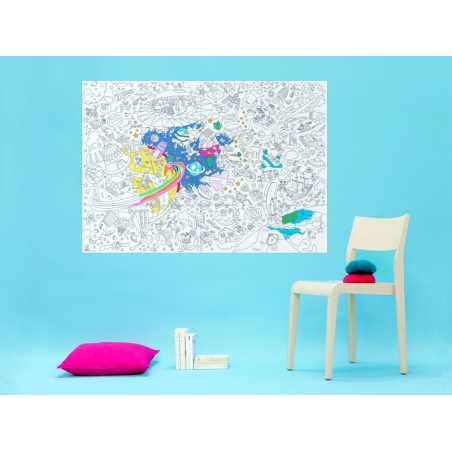 Giant colouring paper poster - Cosmos