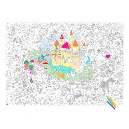 Giant colouring paper poster - Magic