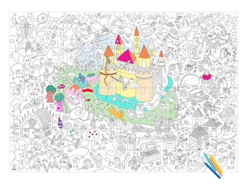 Poster géant en papier à colorier - MAGIC