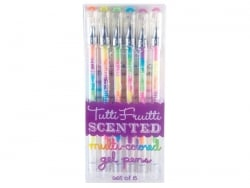 "6 multi-coloured scented ""Tutti Frutti"" gel pens"
