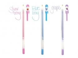 """12 stylos gel pailletés et parfumés """"Yummy"""""""