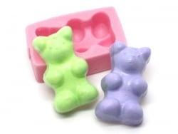 "Moule bonbon "" nounours "" en silicone rose"