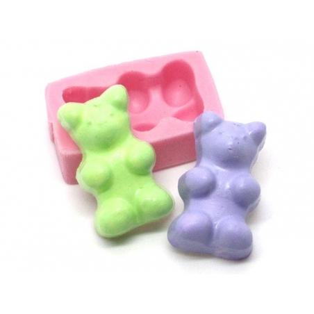 """Acheter Moule bonbon """" nounours """" en silicone rose - 5,25€ en ligne sur La Petite Epicerie - Loisirs créatifs"""