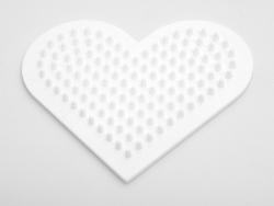 Stiftplatte für klassische HAMA-Midi-Perlen - kleine Herz
