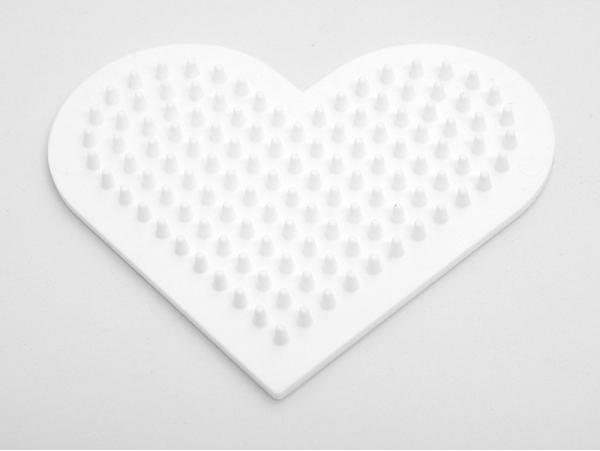Plaque support pour perles HAMA MIDI classiques - petit coeur Hama - 1