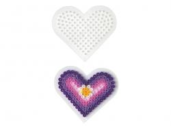 Acheter Plaque support pour perles HAMA MIDI classiques - petit coeur - 1,89€ en ligne sur La Petite Epicerie - 100% Loisirs...