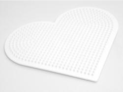 Plaque support pour perles HAMA MIDI classiques - grand coeur