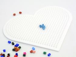 Pegboard for classic HAMA MIDI beads - big heart