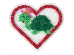 Plaque support pour perles HAMA MIDI classiques - grand coeur Hama - 3