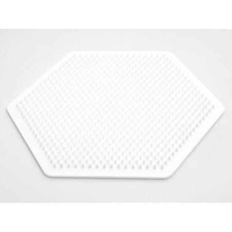Plaque support pour perles HAMA MIDI classiques - grand hexagone Hama - 1