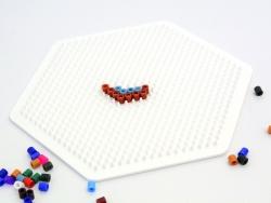 Plaque support pour perles HAMA MIDI classiques - grand hexagone