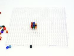 Plaque support translucide pour perles HAMA MIDI classiques - grand carré
