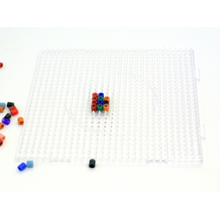 Plaque support translucide pour perles HAMA MIDI classiques - grand carré Hama - 2
