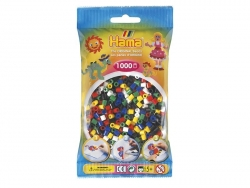 Bag of 1,000 classic HAMA MIDI beads - primary colours